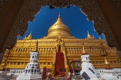 Shwezigon Paya, Bagan Arkivfoton