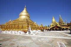 Shwezigon Paya, Bagan, Myanmar. Royalty Free Stock Photography