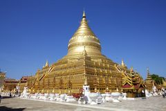 Shwezigon Paya, Bagan, Myanmar. Royalty Free Stock Photography