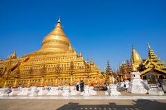 Shwezigon Paya, Bagan, Myanmar. Stock Photos