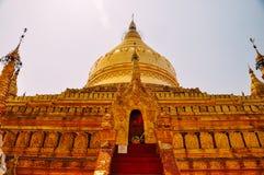 Shwezigon Paya Buddhist temple, Bagan. Royalty Free Stock Image