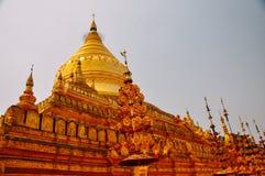 Shwezigon Paya Buddhist temple, Bagan. Stock Photo