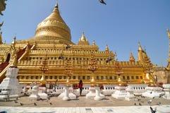Shwezigon Paya pagoda, Bagan, Myanmar Obraz Royalty Free