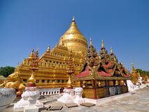 Shwezigon Paya Pagoda, Landmark in Bagan Stock Photos