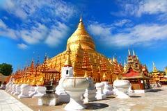 Shwezigon Paya temple , Bagan, Myanmar. Stock Photo