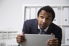 Shy African American clerk Stock Image