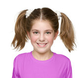 Shy And Blushed Little Girl Royalty Free Stock Photography