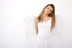 Shy Angel Stock Image