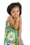Shy asian girl Stock Photo