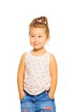 Shy Asian girl Royalty Free Stock Photos