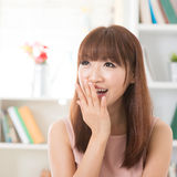 Shy Asian girl Stock Photography
