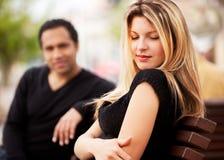 Shy Attractive Woman Stock Photo