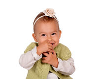 Shy baby Royalty Free Stock Photography