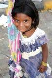 Shy Beggar Girl Royalty Free Stock Image