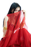Shy Belly Dancer stock images