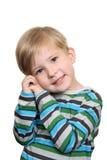 A shy boy Royalty Free Stock Photography