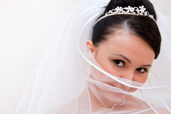 Shy bride Royalty Free Stock Image