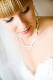 Shy bride Stock Photos
