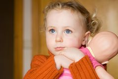 Shy child Royalty Free Stock Photos