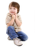 Shy child Stock Images