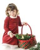 Shy Christmas Girl Stock Photography