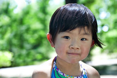 A shy girl. From china Stock Images