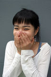 Shy girl Stock Photo