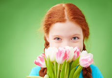 Shy girl Stock Images