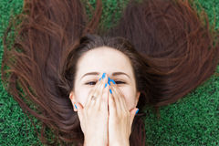 Shy girl Royalty Free Stock Photography