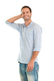 Shy Happy Man Stock Photography
