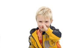 Shy Little Boy Stock Photo