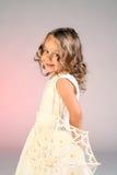 Shy little girl royalty free stock photo