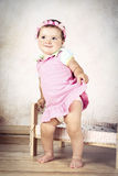 Shy little girl with headband Royalty Free Stock Photography