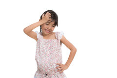 Shy little girl standing Royalty Free Stock Photo