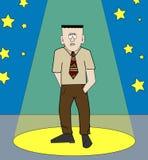 Shy man in spotlight Stock Photo
