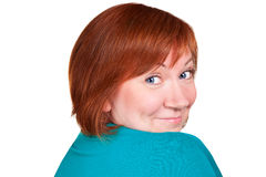Shy middle aged woman Royalty Free Stock Photo