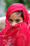 Shy muslim girl. Portrait shot of shy muslim girl royalty free stock photos