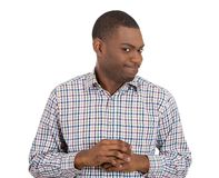 Shy nervous young man Royalty Free Stock Photo