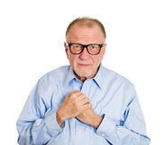 Shy older man Royalty Free Stock Images