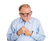 Shy older man Stock Image
