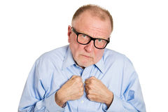Shy older man Royalty Free Stock Photo