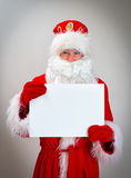 Shy Santa Claus. Royalty Free Stock Photography