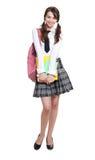 Shy school girl Stock Photo
