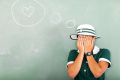 Shy school love Royalty Free Stock Photos