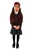 Shy Schoolgirl Stock Photo