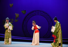 "Shy servant-Kunqu Opera ""the West Chamber"" Royalty Free Stock Image"
