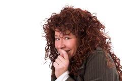 Shy smile Royalty Free Stock Image