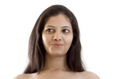 Shy smile of beautiful Indian girl Royalty Free Stock Images