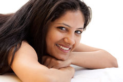 Shy smile of beautiful Indian girl Stock Photography