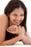 Shy smile of beautiful Indian girl Royalty Free Stock Photo